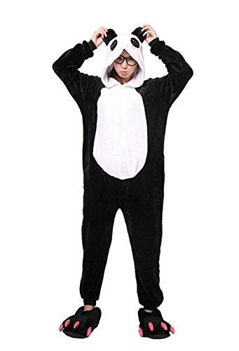 Kenmont Tier Schlafanzug Cosplay Kostüm Einhorn Pyjama Tierkostüme Jumpsuits Erwachsene Nachthemden Overall Plüschtier (M, Panda)