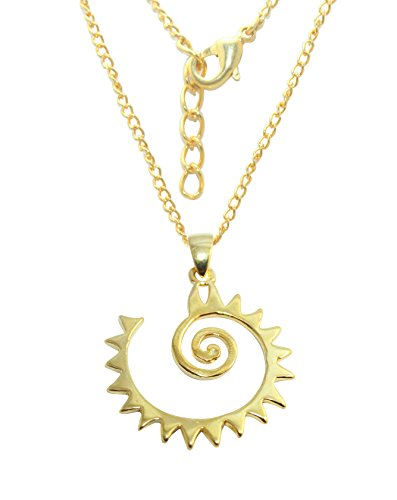 G-Vogue Designer Plain Curv Gold 24k Plated Brass Pendant for Girls Women