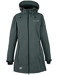 DEPROC de Active Mujer ultraligero Cavell Softshell, Long Jacket abrigo, todo el año, mujer, color antracita, tamaño 44