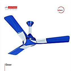 JANAKI GLAMER 1200mm Sweep 60-Watt Ceiling Fan (Blue)