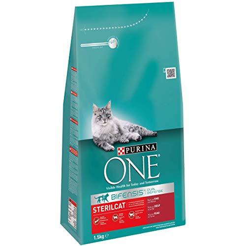 Purina ONE Bifensis Sterilcat Katzentrockenfutter, für kastrierte Katzen, gesunder Stoffwechsel, 6 x - Katzenfutter Perser