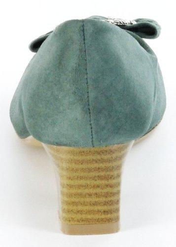 ... Bergheimer Trachtenschuhe Trachten Pumps moos grün Leder Ziegenvelour Damen  Schuhe Rosi Grün ... 11eae47c7c