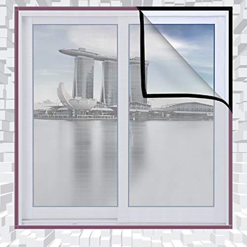 Bildschirm mesh fenstervorhang,Anti moskito insekten fliegen Magic tape Full frame Mute Selbstklebend Netting flyscreen fenstervorhang-A 150x140cm(59x55inch)
