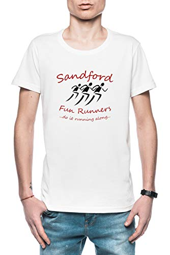 Sandford Fun Run Herren T-Shirt Weiß Größe S - Men's T-Shirt White - Hot Fuzz-t-shirt