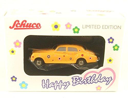 rolls-royce-silver-cloud-gelb-dekor-happy-birthday-2017-0-modellauto-fertigmodell-schuco-190
