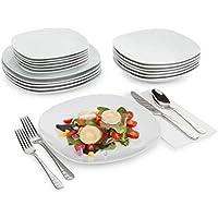 Tivoli Platos / 18 Piezas/Hecha de Porcelana/Lavavajillas / Agregar Clase y Personalidad a tu Mesa