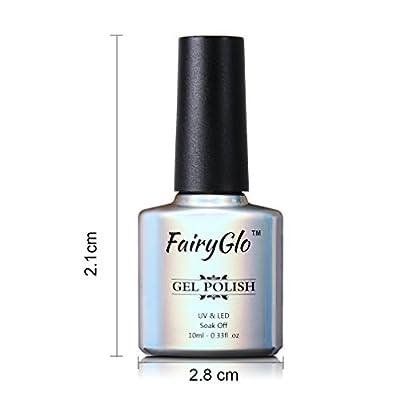 FairyGlo 5 Color Combo Nude Gel Nail Polish UV LED Soak Off Manicure Decor Nail Art Kit Gift Set Exclusive Beauty Wearing Salon New Series Base Top 10ml