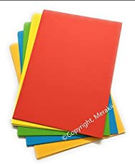 Merakii Premium Quality 240 Gsm, A4 Canvas Colored Papers For Craft. (10) - 10 Sheets