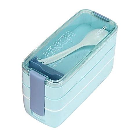 Hot vente. Feixiang & # X2648; exclusif customisation 900ml Portable 3Couche Bento Lunch Box four L bleu ciel
