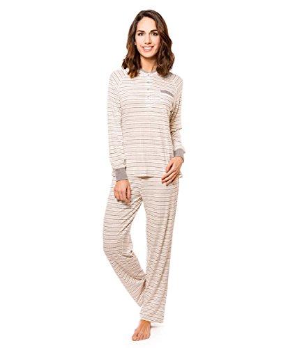 lohe. Pijama Largo Rayas con Elastic