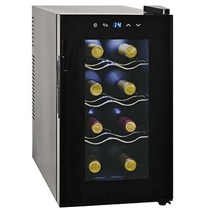 Festnight-Weinkhlschrank-Weinkhler-25L-65-W-Getrnkekhlschrank-Bar-Khlschrank-mit-LCD-Anzeige-fr-8-Flaschen