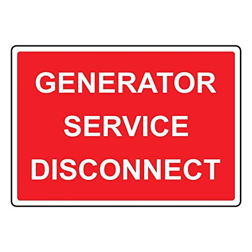 mefoll Wall Decor Notice Sign 8x12 Generator Service Disconnect Sign Safety Sign Caution Sign for Street Road Outdoor Indoor by -