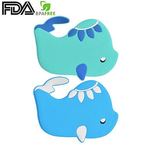 GreeSuit Anti Slip Stickers Bath Adhesives - Shower Appliques for Children Bathroom Appliques Decal Bath Oil (2-Pack Fish)