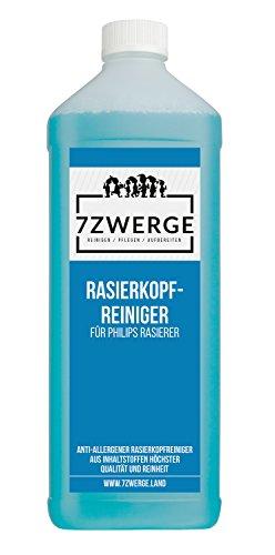 Nasse Flüssigkeit (7Zwerge Rasierkopfreiniger - Scherkopfreiniger für Philips Elektro Rasierer - Nachfüllflüssigkeit (1 x 1000 ml))