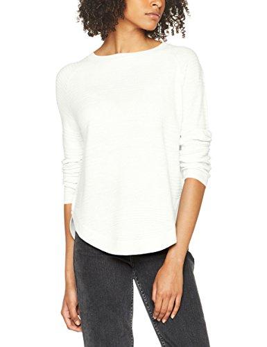 ONLY Damen Pullover 15141866, Elfenbein (Whitecap Gray), 38 (Herstellergröße: M) - Rippstrick-muster