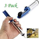 Aluminium Metall Entlötpumpe Saugdose Gun Löten Saugnapf Stift Entfernung Vakuum Lötkolben Entlöten Handschweißen Werkzeuge (Blau)