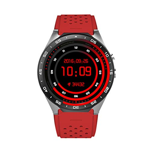 ZLOPV Fitness Armband Smart Watch Android 5.1 Quad Core 1,3 GHz 1,39 Zoll 512 MB + 4 GB Smartwatch SIM-Karte GPS WiFi Anruferinnerung, rot