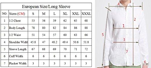 Perano -  Camicia Casual  - elastico in vita - Basic - Classico  - Maniche lunghe  - Uomo Blu chiaro