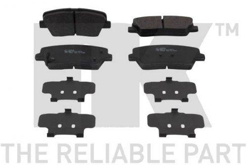 Preisvergleich Produktbild NK 223526 Bremsbelagsatz, Scheibenbremse