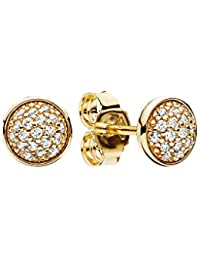 Pandora Women Yellow Gold Stud Earrings - 256212CZ