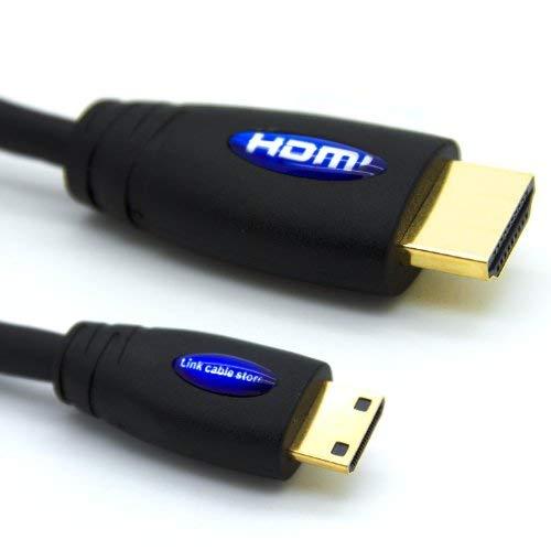 LCS - 3M - Mini HDMI Kabel 1.4 / 2.0 - FULL HD 1080p / Ultra HD 2160p - Hochgeschwindigkeits mit ETHERNET und 3D - Dreifach-Abschirmung - Vergoldete kontakte - Unterstützt neuen Technologien ARC - CEC - Deep Color und x.v.Color - Kompatibel mit dem neuen Tablet-PC