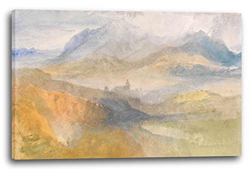 Printed Paintings Leinwand (120x80cm): William Turner - A Distant View Over Chambéry, from The No