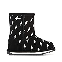 EMU Australia Kids Lightning Bolt Brumby Wool Boots Size UK 13 Black