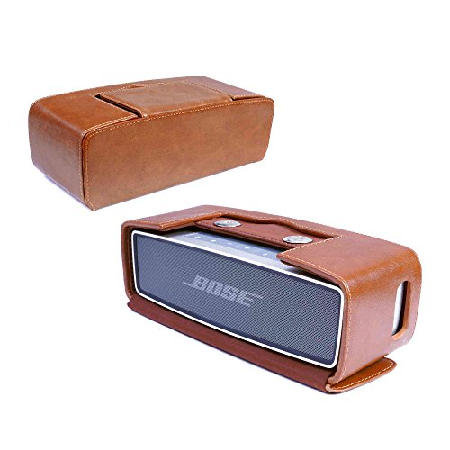 Tuff-Luv J16_13 Weinlese-Echtes Leder NFC Travel Case Für Bose Soundlink Mini [Mit NFC Tag] - Braun Mobile Travel Kit