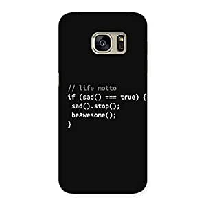 Special Programer Life Back Case Cover for Galaxy S7