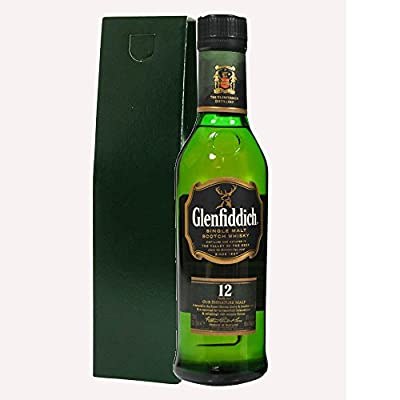 Glenfiddich Special Reserve 12 Year Old Malt Whisky 35cl Half Bottle in Green Gift Bottle Box with Hand Crafted Gifts2Drink Tag