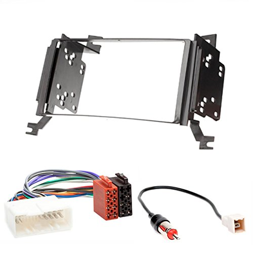 CARAV 11-019-14-1 Radioblende Car 2-DIN in Dash Installation kit Set for Santa Fe 2006-2010 (with Navigation) + ISO and Antenna Adapter Cable -