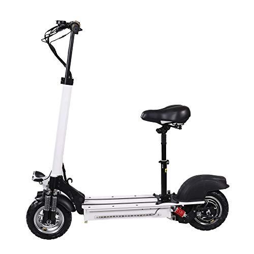 XULONG Elektrische Scooter Adult Faltbar, 10 Zoll 200 kg Max Load 50km/H, Lithium Battery 48V 23AH 100km Range, 1000W Dual Motor Drive mit LED-Licht und HD-Display