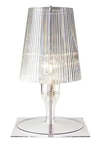 kartell Lampe de chevet - TAKE - transparente - Hauteur 30 cm