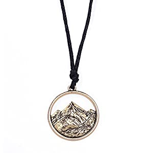 Halskette mit Anhänger Design: Berge, Halskette für Outdoor-Liebhaber