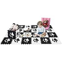 COSTWAY 24 Piezas Alfombra de Juegos para Niños Puzzle Mat Espuma EVA Tapete para Dormitorio Salón