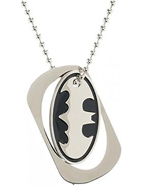 DC Comics Batman Bat Logo Metal Cut Out Dog Tag Pendant Necklace