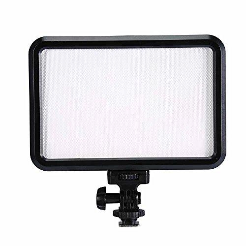 Glighone Dimmbare Ultrahoch Power Panel Videoleuchte Videolicht LED Beleuchtung Studio Video Foto 12W für Digitalkamera / Camcorder, Stativ (Canon G 17)