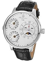 Burgmeister Montana BM309-113L (54mm) - Reloj de caballero automático, correa de piel color negro