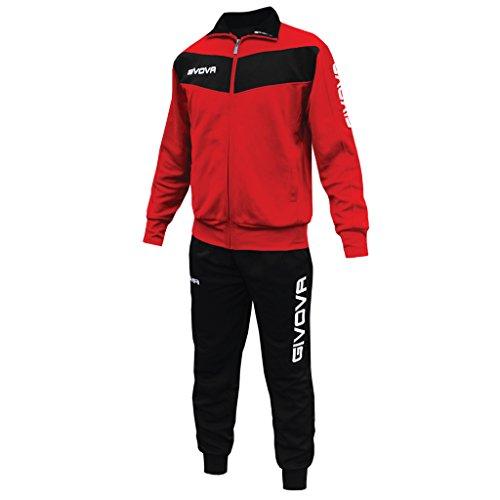 Marchio Givova - modello Tuta Visa - completo di giacca con zip intera a manica lunga e pantalone - per...
