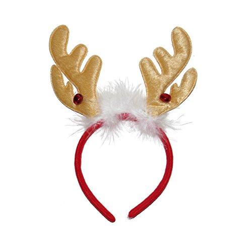 * * NEU * * Weihnachten Rentier Geweih auf Haarreif mit Holly und Glocken-Fancy (Fancy Dress Von Manchester)