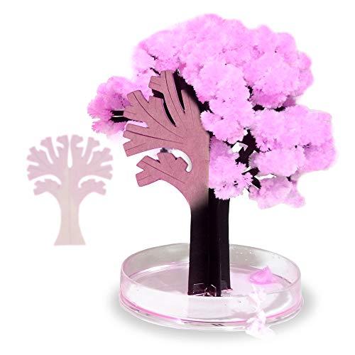 Monsterzeug Magischer Sakura Baum, Magic Tree Samen, Japanische Kischblüten Kristallbäume - Höhe 13,5 cm