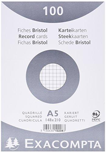 exacompta-10208e-cartoncini-bristol-14x21-cm-bianco