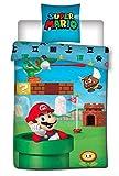 Aymax Super Mario 004 - Biancheria da Letto per Bambini, 140 x 200 cm 65 x 65 cm, 100% Cotone