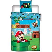 Aymax Super Mario 004 - Juego de Cama Infantil (140 x 200 cm + 65 0ce99b9484d1