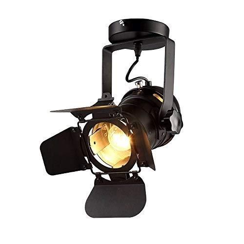 Moliay Luminaria LED de Techo Vintage E27 Edison Foco Ajustable Foco Industrial...