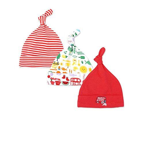 54caa19bf153c ... de entrenar. Casa 3 unids bebé recién Nacido algodón Sombrero Infantil  Dormir Beanie Sombreros Ajustable Top Nudo Impresa