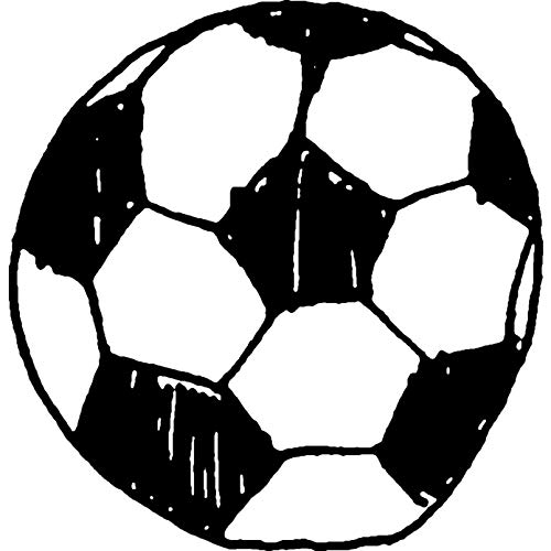 Azeeda A7 'Calcio Sportivo' Timbro di Gomma Non Montato (RS00008149)
