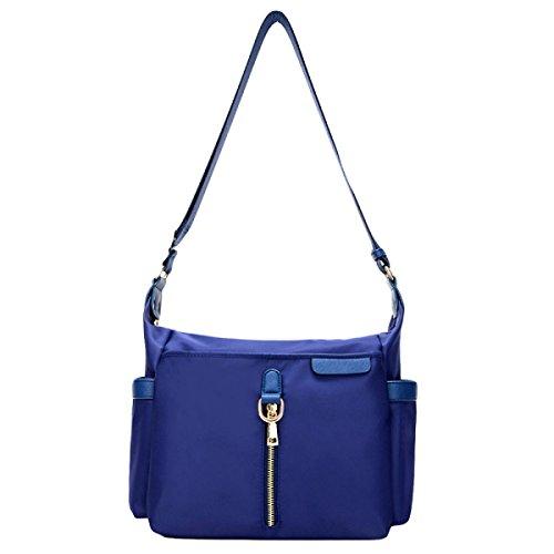 Wasserdichte Nylon Tuch Kurier Tasche Weiblichen Schultertasche Mode Tasche Blue