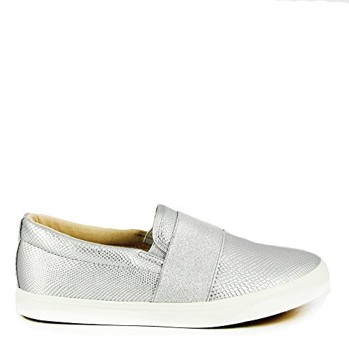 Ideal Shoes, Damen Sneaker Silber