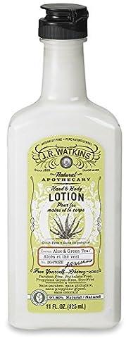 JR Watkins - Naturmenschenapothecary-Hand u. Körper-Lotion-Aloe u. grüner Tee - 11 Unze.